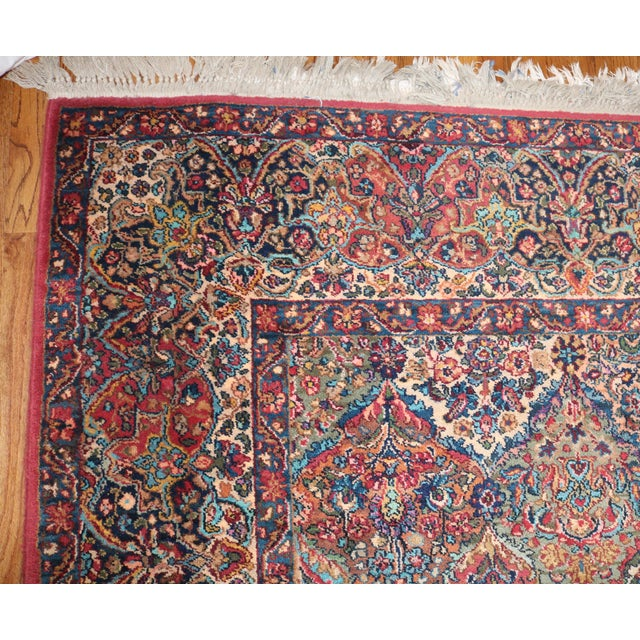 Brick Red Karastan Kirman Multicolor Rug - 8′7″ × 10′8″ For Sale - Image 8 of 9