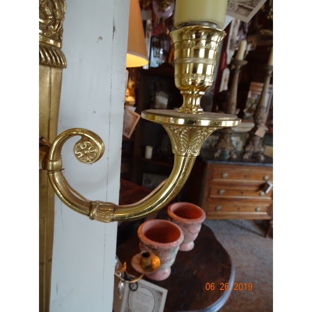 19th Century Pair of 19th Century Bronze Sconces For Sale - Image 5 of 10