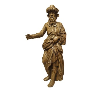 18th Century Carved Wooden Statue from France For Sale