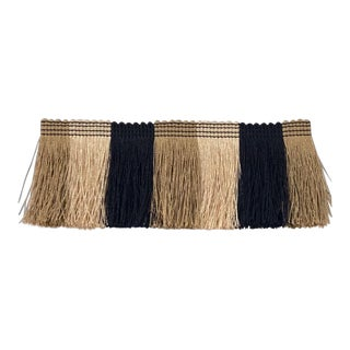 """Color Block """"Brush"""" Fringe Trimming - Overall Height 3"""" - 6.75 Yards Total For Sale"""