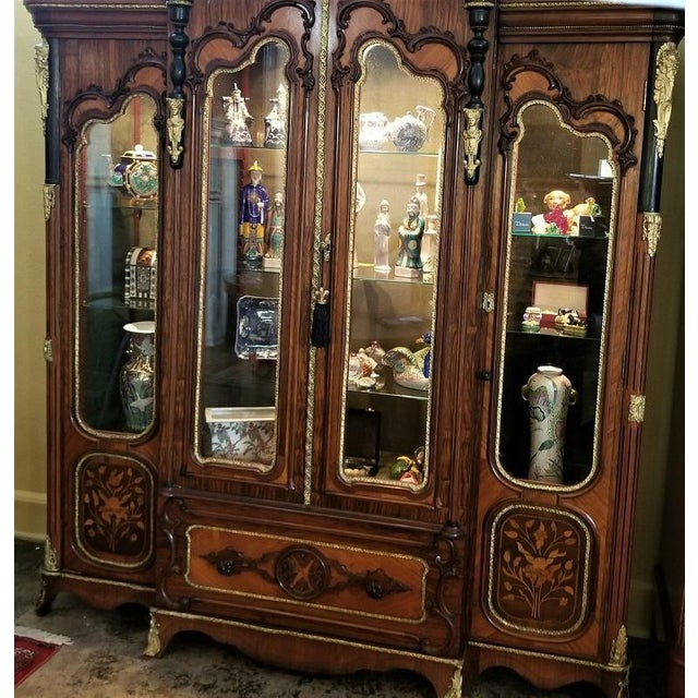 Mid 19th Century 19c French Neo-Classical Revival Style Vitrine - Imposing Piece For Sale - Image 5 of 12