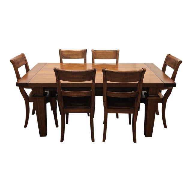 Admirable Custom Wood Dining Table Six Chairs From Chile Ibusinesslaw Wood Chair Design Ideas Ibusinesslaworg