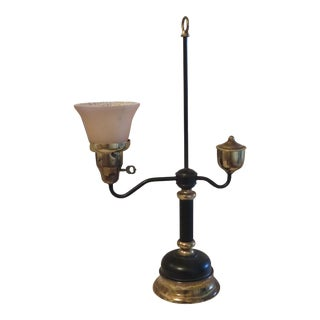 1930s Oil Lamp Converted to Electric Desk Lamp For Sale