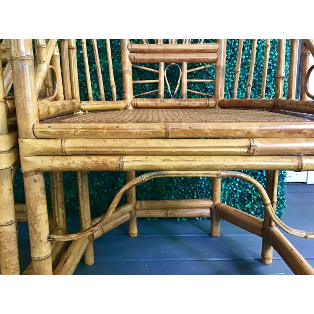 1980s Vintage Brighton Bamboo ChairsA Pair For Sale - Image 9 of 13