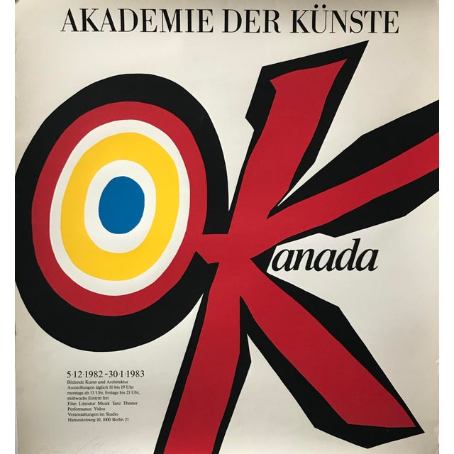 Date: 1982 Size: 31.5 x 35 inches Vittorio Fiorucci (1932-2008) was an Italian Canadian poster artist from Montreal,...