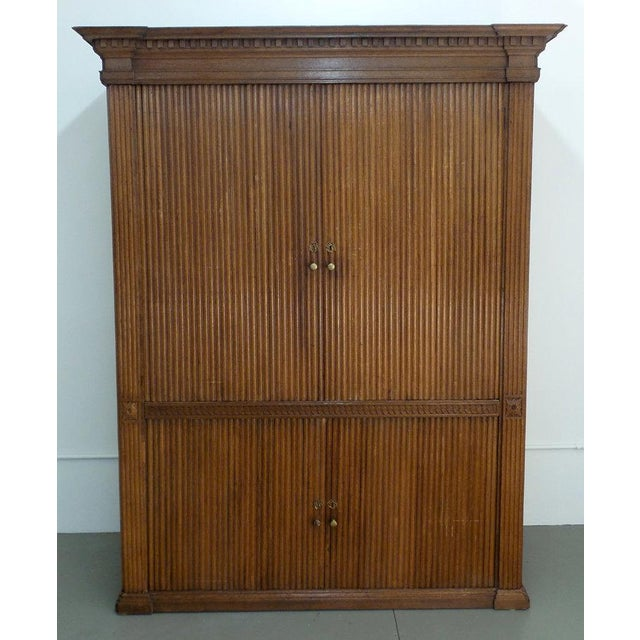 18th Century French Tambour Cabinet For Sale - Image 4 of 6
