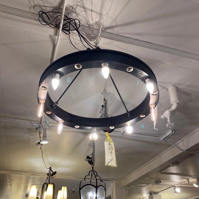 Dark Gray Ralph Lauren Roark Ring Chandelier For Sale - Image 8 of 11