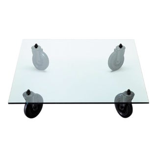 Fontana Arte Tavolo Con Ruote Coffee Table on Wheels