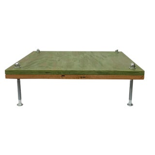 Contemporary Reversible Reclaimed Low Table For Sale
