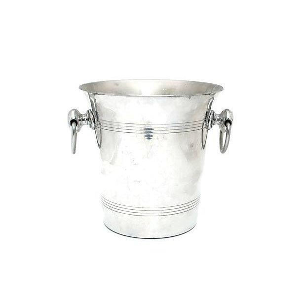 Hollywood Regency Vintage French Hanns Kornell Champagne Bucket For Sale - Image 3 of 6