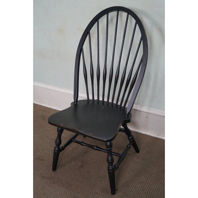 Restoration Hardware Black Painted Windsor Dining Chairs Set Of 4 Chairish