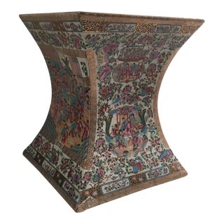 Chinese Ceramic Garden Bench or Side Table