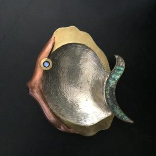 Mixed Media Fish Sculptural Dish
