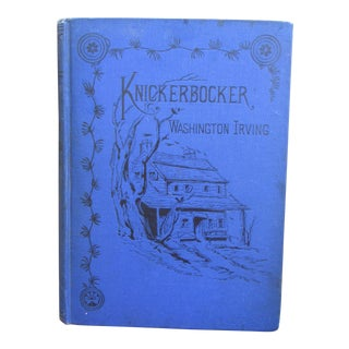 Late 1800s Knickerbocker's History of New York Book by Washington Irving For Sale