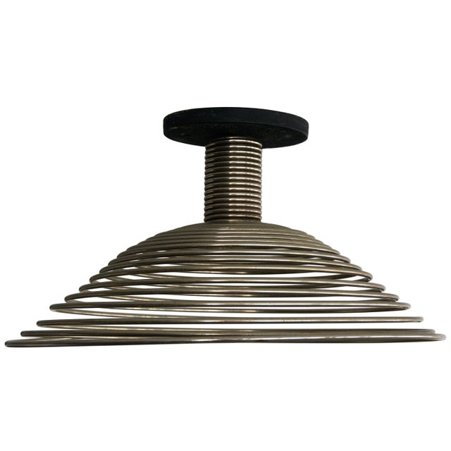 Spiral Spring Chrome Industrial Style Chandelier by Angelo Mangiarotti For Sale - Image 13 of 13
