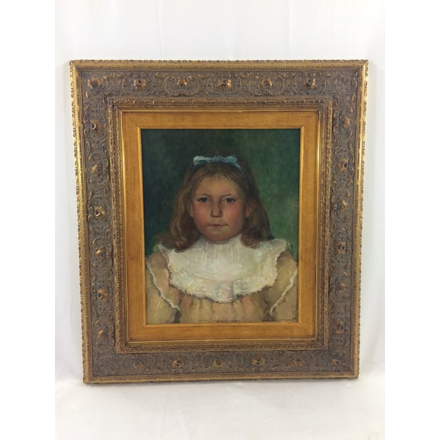 Victorian 19th Century Portrait of a Child Painting For Sale - Image 3 of 3