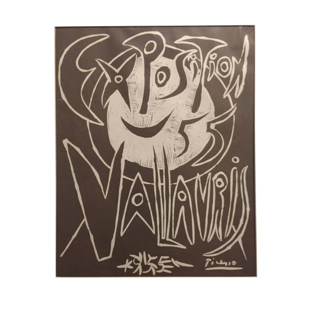 1955 Pablo Picasso Exposition Vallauris Poster For Sale