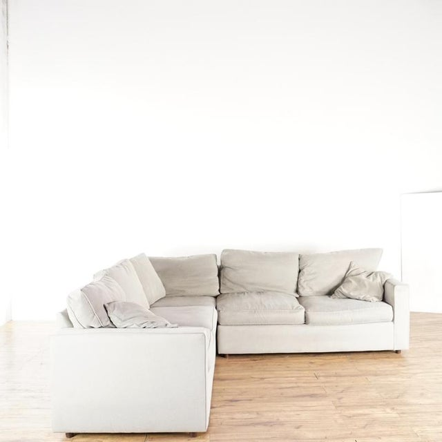 Room & Board Modern Room & Board Contemporary York Upholstered Sectional Sofa For Sale - Image 4 of 8