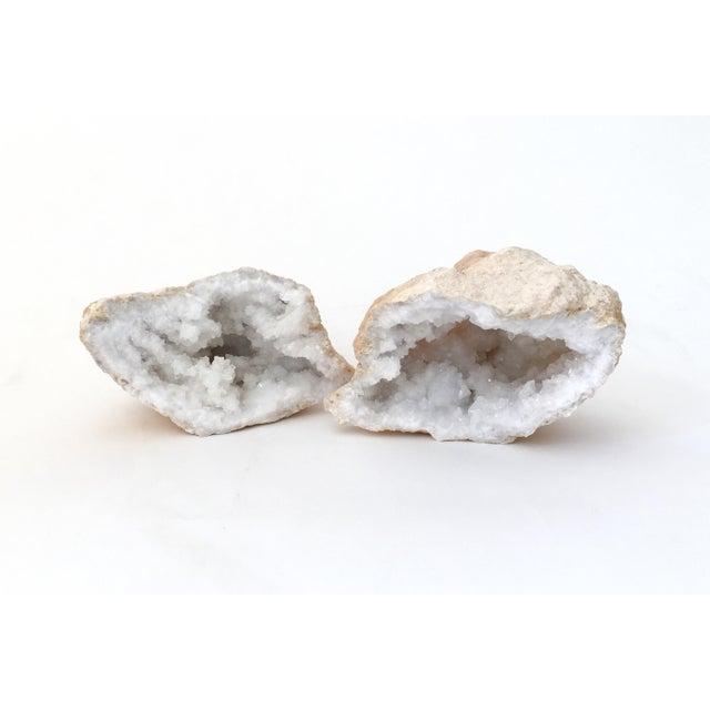Quartz Crystal Geode - A Pair - Image 2 of 7