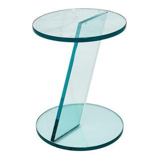 Italian Postmodern Glass Drink Table For Sale