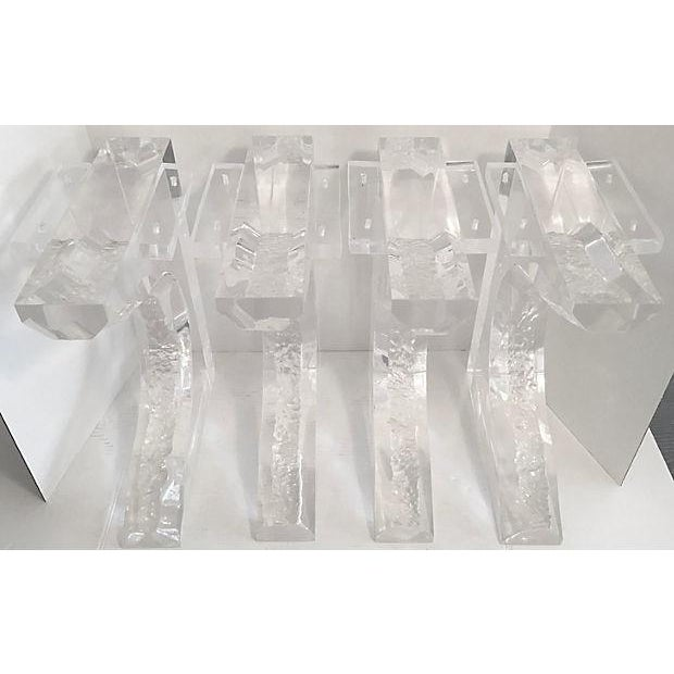 Hand Sculpted Lucite Bench Legs - Set of 4 - Image 4 of 8
