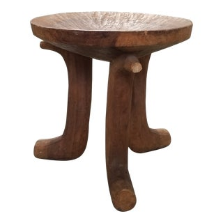 Antique African Brown Stool For Sale