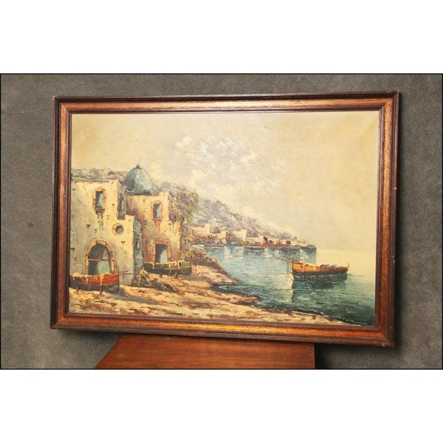 Vintage Impressionist Oil Painting of European Seascape - Image 10 of 11