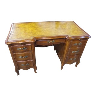 Louis XV Style Leather Top Writing Desk For Sale