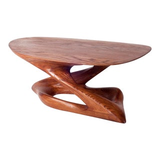 Amorph Plie´ American Walnut Coffee Table For Sale