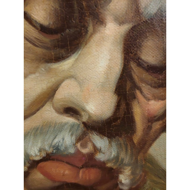 Lajos Polczer - Portrait of a Patriarch Rabbi -Oil Painting For Sale In Los Angeles - Image 6 of 10