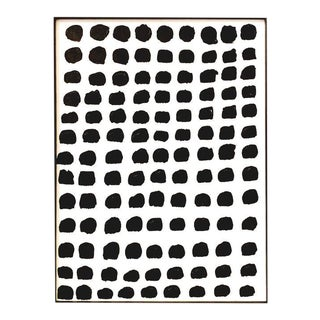 "Original Framed ""Dots"" Painting For Sale"