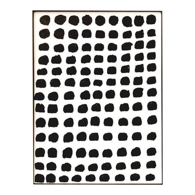 "Original Framed ""Dots"" Painting For Sale"