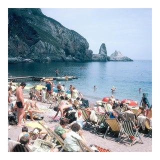 Vintage 1960s England Beach Ansley's Cove Photograph Print For Sale
