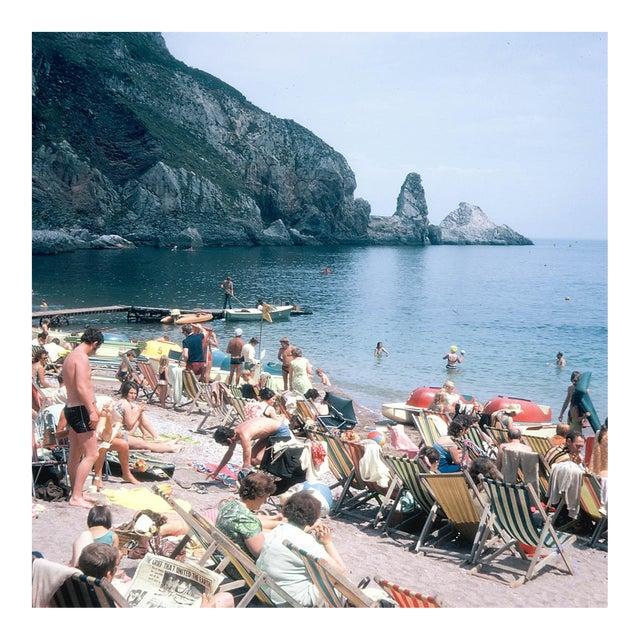 Vintage 1960s England Beach Ansley's Cove Photograph Print For Sale
