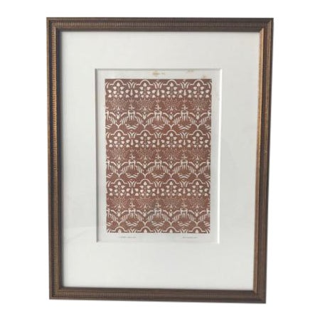 Framed Vintage Parisian Bookplate Print For Sale