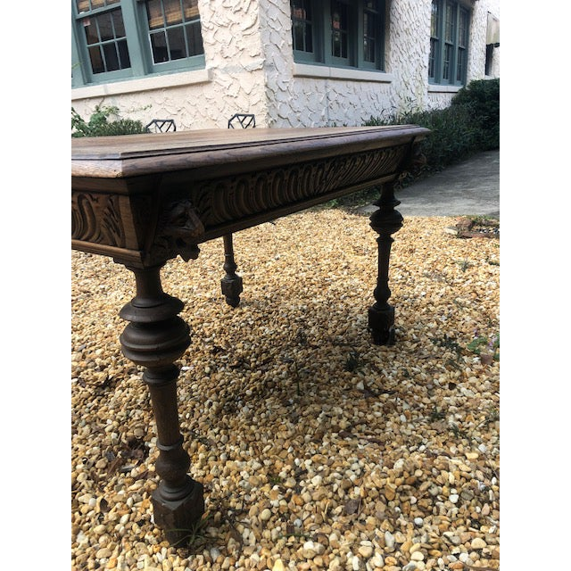 Belgian 19th Century Center/ Library Table For Sale - Image 3 of 9