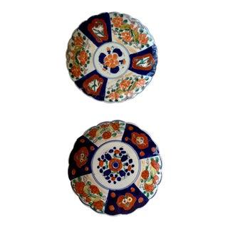 Antique Japanese Imari Porcelain Plates - a Pair For Sale