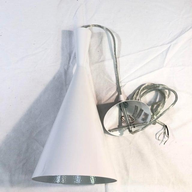 EuroFase Bronx 1-Light White Ceiling Pendant For Sale - Image 4 of 8