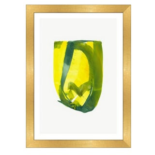 Framed in Gold 'Color Study 7' Watercolor Print on Textured Paper by Encarnacion Portal Rubio For Sale