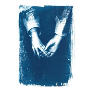 Engagement Painting by Antony Van Dyke, Cyanotype Print on Watercolor Paper (Limited Edition) For Sale