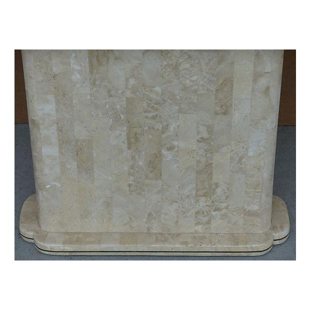Maitland-Smith Style Tessellated Stone Console - Image 8 of 8
