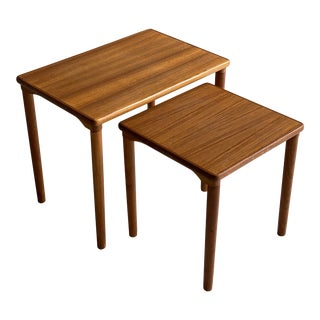 Teak Mid Century Side Tables - Set of 2 For Sale