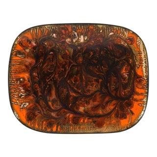 Mid-Century Modern Enamel on Copper Dish For Sale