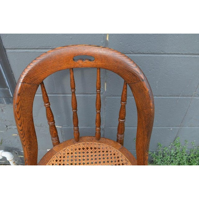 Dining Room Chairs With Caned Seats. Victorian Windsor Bow Back Style. Set of 8. For Sale - Image 10 of 13