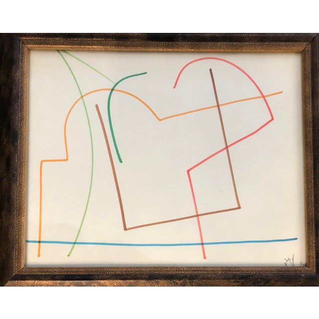 Two framed original abstract drawings by Robert Cooke Initialed lower right 8 x 10 Overall size with frame is 13 x 15 each