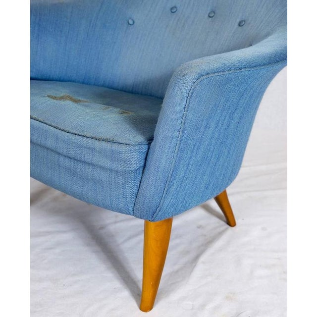 "Blue Kerstin Hörlin-Holmquist ""Stora Eva"" Chair For Sale - Image 8 of 9"