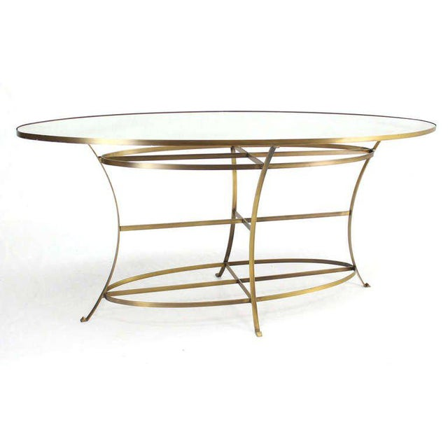 Hollywood Regency Large Oval Display Table For Sale - Image 3 of 10