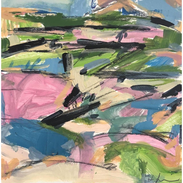 Abstract Spring Landscape Sketch by Heidi Lanino - 9x9 For Sale - Image 3 of 3