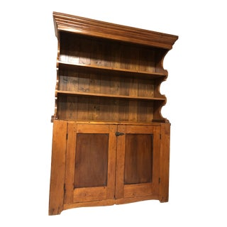 19th Century Antique Pine Hutch and Cupboard For Sale