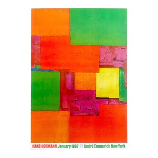 Hans Hofmann Rare Vintage 1967 Abstract Expressionist Lithograph Print Exhibition Poster For Sale